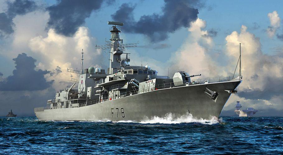 TRUMPETER 1/700 06719 HMS TYPE 23 FRIGATE - KENT  F78