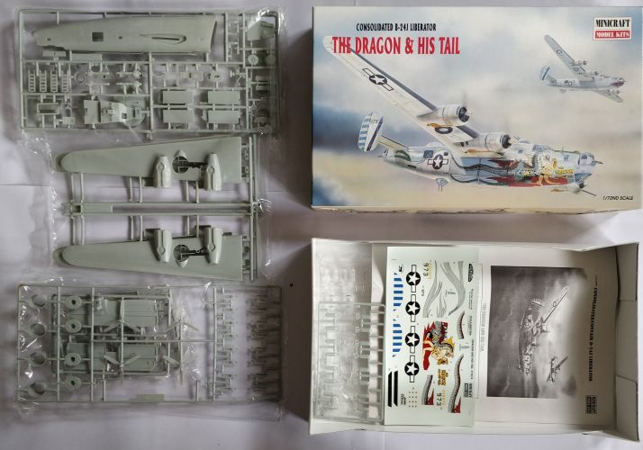 KINGKIT MODEL SCRAPYARD 1/72 MINICRAFT - 11614 CONSOLIDATED B-24J LIBERATOR THE DRAGON   HIS TAIL - NO CANOPY   NO DECALS