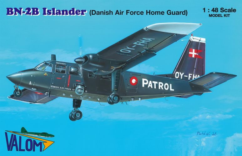 VALOM 1/48 48013 BRITTEN-NORMAN BN-2B ISLANDER  DANISH AIR FORCE HOME GUARD