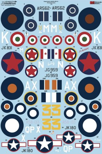 XTRADECAL 1/48 48217 SUPERMARINE SPITFIRE Mk.Vc OVERSEAS USERS