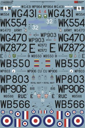 XTRADECAL 1/48 48221 DE HAVILLAND CHIPMUNK IN MILITARY SERVICE COLLECTION PT1