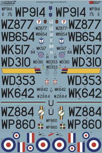 XTRADECAL 1/48 48222 DE HAVILLAND CHIPMUNK IN MILITARY SERVICE COLLECTION PT2