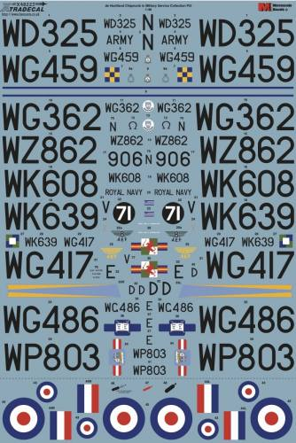 XTRADECAL 1/48 48223 DE HAVILLAND CHIPMUNK IN MILITARY SERVICE COLLECTION PT3