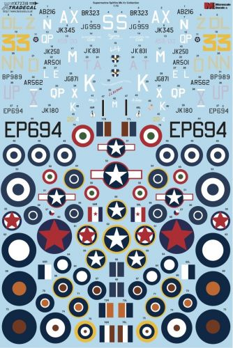 XTRADECAL 1/72 72318 SUPERMARINE SPITFIRE MK.VC COLLECTION