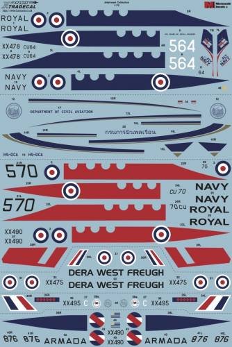 XTRADECAL 1/72 72327 JETSTREAM COLLECTION