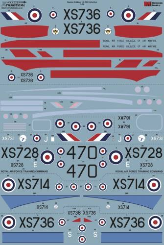 XTRADECAL 1/72 72329 HAWKER SIDDELEY HS.125 COLLECTION