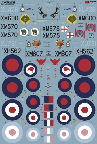 XTRADECAL 1/72 72331 AVRO VULCAN COLLECTION PT1