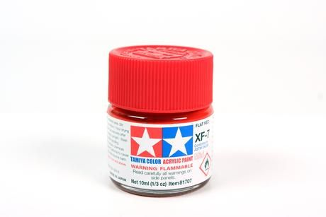 TAMIYA  81707 XF-7 FLAT RED ACRYLIC PAINT  UK SALE ONLY