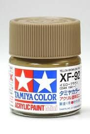 TAMIYA  81792 XF-92 YELLOW-BROWN ACRYLIC PAINT  UK SALE ONLY