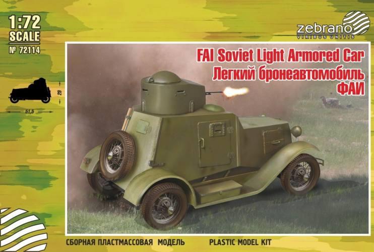 ZEBRANO 1/72 72114 FAI SOVIET LIGHT ARMORED CAR