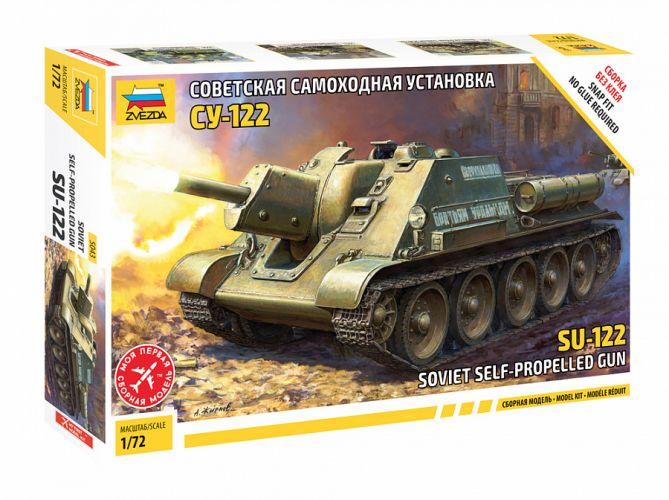 ZVEZDA 1/72 5043 SU-122 SOVIET SELF PROPELLED GUN