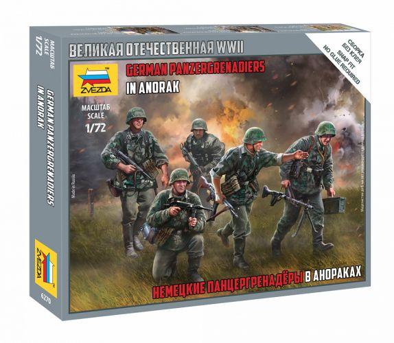 ZVEZDA 1/72 6270 GERMAN PANZERGRENADIERS IN ANORAK
