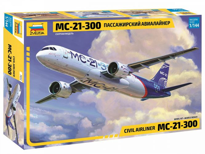 ZVEZDA 1/144 7033 CIVIL AIRLINER MC-21-300