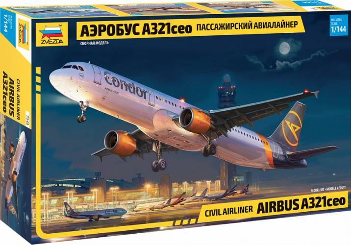 ZVEZDA 1/144 7040 CIVIL AIRLINER AIRBUS A321CEO