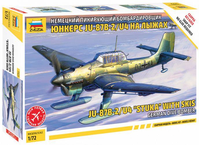ZVEZDA 1/72 7323 JU-87B-2/U4 STUKA WITH SKIS GERMAN DIVE BOMBER