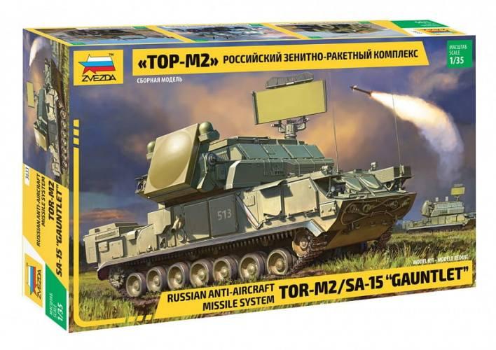 ZVEZDA 1/35 3633 TOR-M2 SA-15 GAUNTLET RUSSIAN ANTI-AIRCRAFT MISSILE SYSTEM