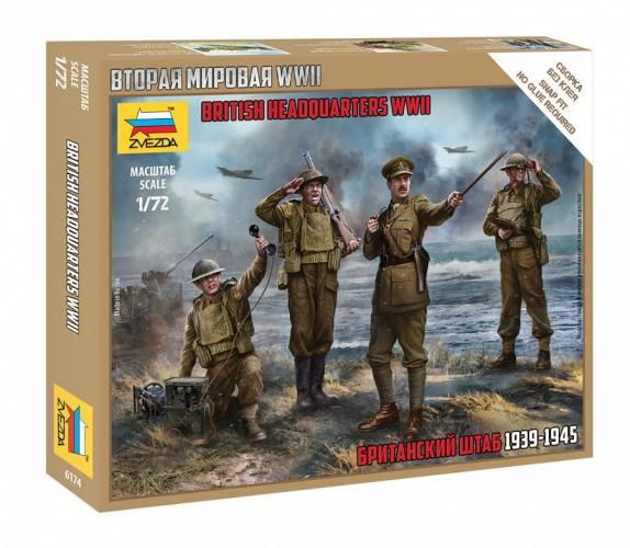 ZVEZDA 1/72 6174 BRITISH HEADQUARTERS STAFF WWII