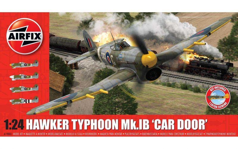 AIRFIX 1/24 19003A HAWKER TYPHOON Mk.IB CAR DOOR  PLUS EXTRA LUFTWAFFE SCHEME