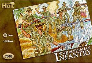 HAT INDUSTRIES 1/72 7016 WWII AUSTRALIAN INFANTRY