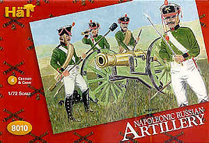 HAT INDUSTRIES 1/72 8010 NAPOLEONIC RUSSIAN ARTILLERY