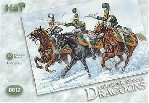 HAT INDUSTRIES 1/72 8012 NAPOLEONIC RUSSIAN DRAGOONS