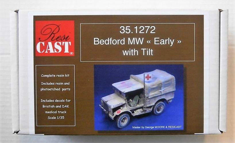 RESICAST 1/35 1272 BEDFORD MW - EARLY WITH TILT
