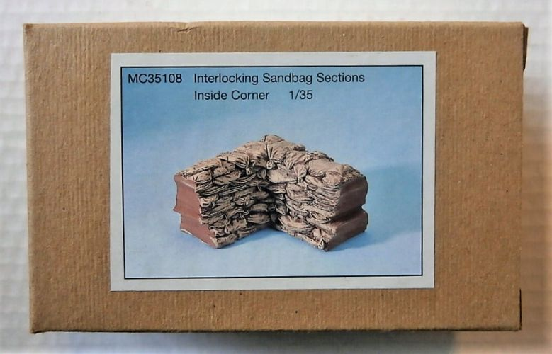 MODEL CELLAR PRODUCTIONS 1/35 35108 INTERLOCKING SANDBAG SECTIONS INSIDE CORNER