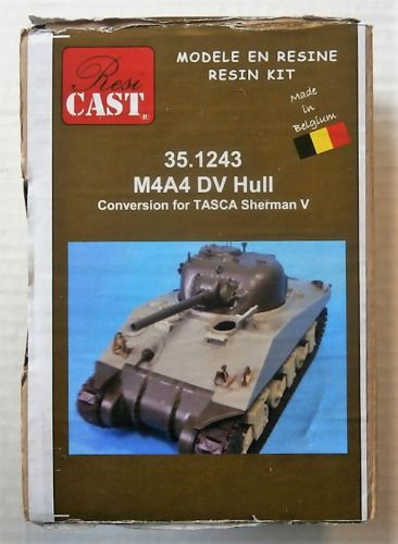 RESICAST 1/35 35.1243 M4A4 DV HULL - CONVERSION FOR TASCA SHERMAN V