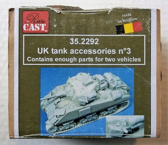 RESICAST 1/35 35.2292 UK TANK ACCESSORIES No 3