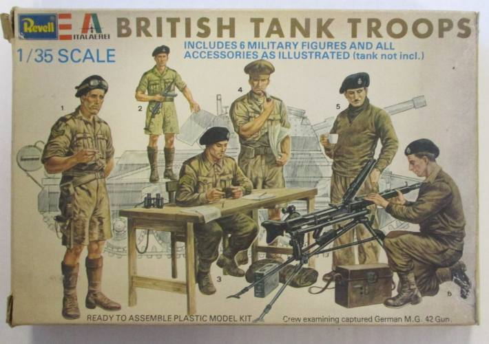 REVELL 1/35 2129 BRITISH TANK TROOPS