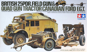 TAMIYA 1/35 35044 BRITISH 25pdr FIELD GUN   QUAD GUN TRACTOR CANADIAN FORD E.G.T.
