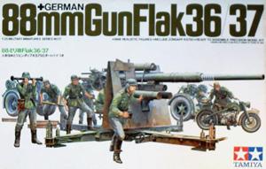 TAMIYA 1/35 35017 88mm GUN FLAK 36/37