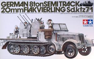 TAMIYA 1/35 35050 Sd.Kfz 7/1 20mm FLAK