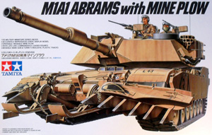TAMIYA 1/35 35158 M1A1 ABRAMS w/MINE PLOW