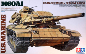 TAMIYA 1/35 35157 US MARINE M60 A1 REACTIVE ARMOUR