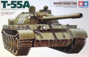 TAMIYA 1/35 35257 SOVIET TANK T-55A