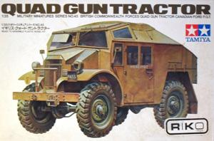 TAMIYA 1/35 35045 QUAD GUN TRACTOR