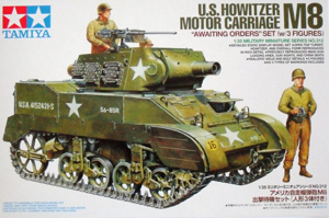TAMIYA 1/35 35312 M8 HOWITZER WITH 3 FIGURES