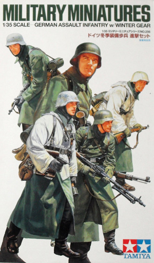 TAMIYA 1/35 35256 GERMAN ASSAULT INFANTRY WINTER