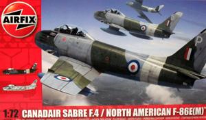 AIRFIX 1/72 03083 CANADAIR SABRE F.4/ NORTH AMERICAN F-86E M