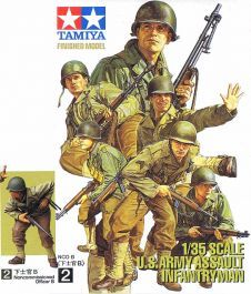 TAMIYA 1/35 26007 U.S. ASSAULT INFANTRY NON COMMISSIONED OFFICER B
