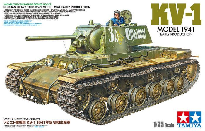 TAMIYA 1/35 35372 RUSSIAN HEAVY TANK KV-1F