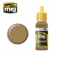 Thumbnail 0102 OCHRE BROWN 17ml ACRYLIC PAINT FOR BRUSH   AIRBRUSH