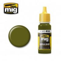 Thumbnail 0932 RUSSIAN GREEN BASE 17ml ACRYLIC PAINT FOR BRUSH   AIRBRUSH