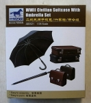 Thumbnail 3521 WWII CIVILIAN SUITCASE WITH UMBRELLA SET
