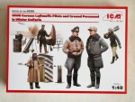 Thumbnail 48086 WWII GERMAN LUFTWAFFE PILOTS   GROUND PERSONNEL IN WINTER UNIFORM