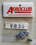 Thumbnail V036 SPITFIRE LINK TYPE U/C LEGS WHEELS AND TAILWHEEL