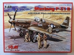 Thumbnail 48125 MUSTANG P-51B WITH USAAF PILOTS AND GROUND PERSONNEL