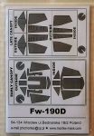Thumbnail 32004 FOCKE WULF Fw 190D-9  EXTERIOR   INTERIOR  CANOPY MASKS FOR HASEGAWA