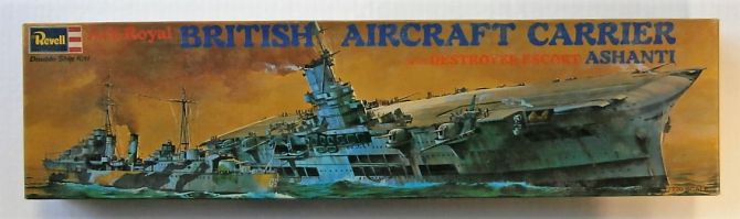 Thumbnail H-312 ARK ROYAL BRITISH AIRCRAFT CARRIER WITH SHANTI DESTROYER ESCORT